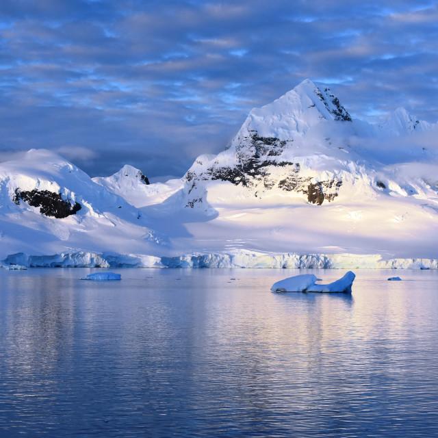 """Antarctica mountain views"" stock image"