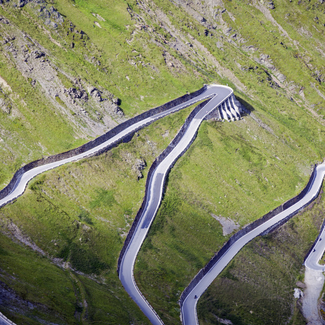 """Stelvio Road bends. Color image"" stock image"