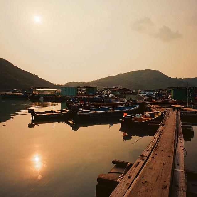 """""""Banyan Bay, Hong Kong"""" stock image"""