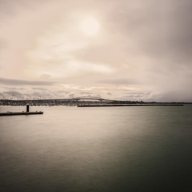 """Auckland Harbour Bridge"" stock image"