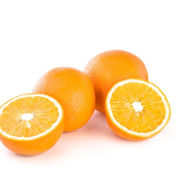 """""""Orange on white background"""" stock image"""