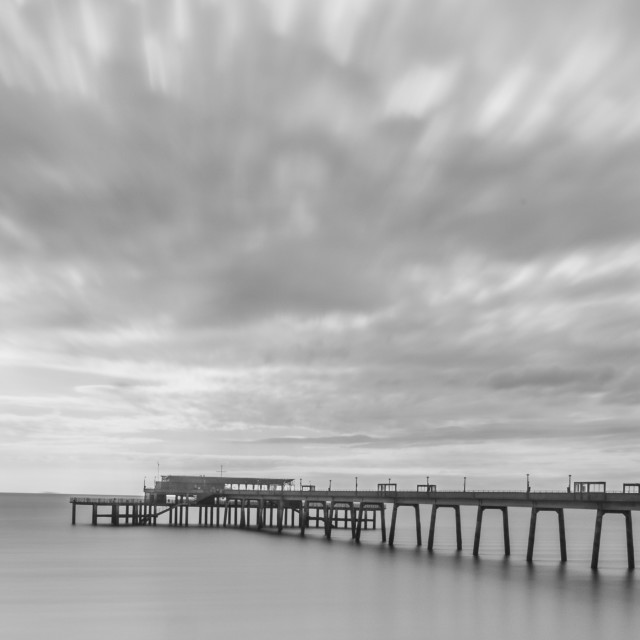 """""""Deal Pier in Black and white"""" stock image"""