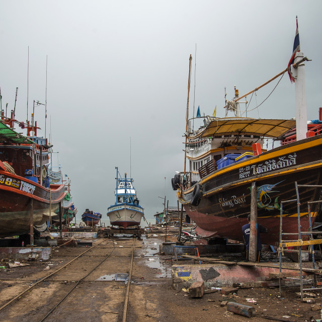 """Boatyard Perspective"" stock image"