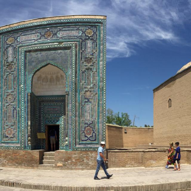 """""""Shah-i-Zinda mausoleum in Samarkand, Uzbekistan"""" stock image"""
