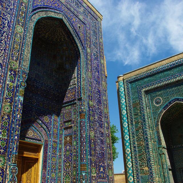 """""""Shah-i-Zinda in Samarkand, Uzbekistan"""" stock image"""