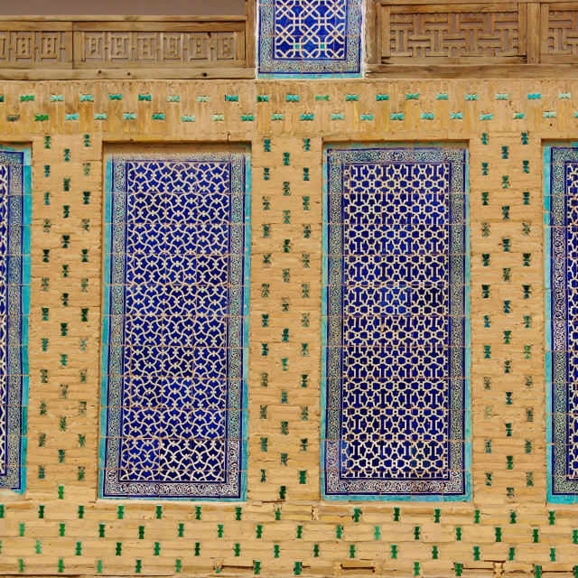 """Majolica patterns in Uzbekistan"" stock image"