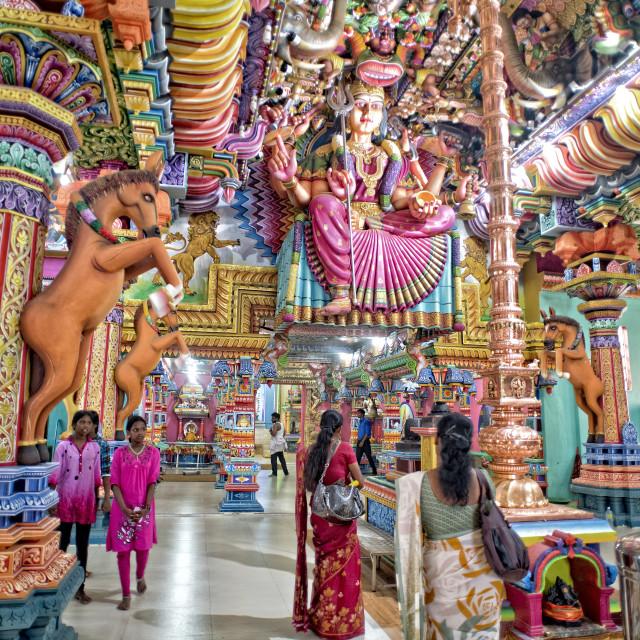 """""""Interior of Kali Kovil temple; Sri Lanka"""" stock image"""