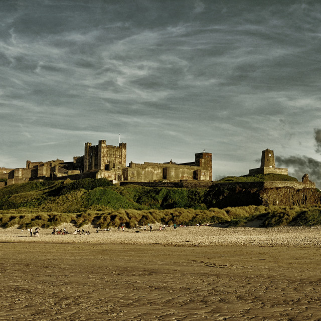 """Bamburgh Castle Northumberland"" stock image"