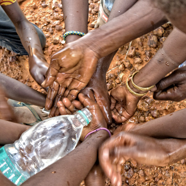 """'Water is Life' - Niger, Africa"" stock image"