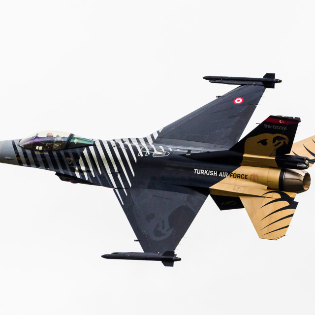 """""""Soloturk F-16C, Turkish Air Force"""" stock image"""
