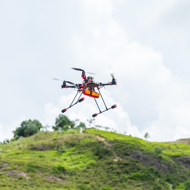 """Drone flying at outdoor"" stock image"