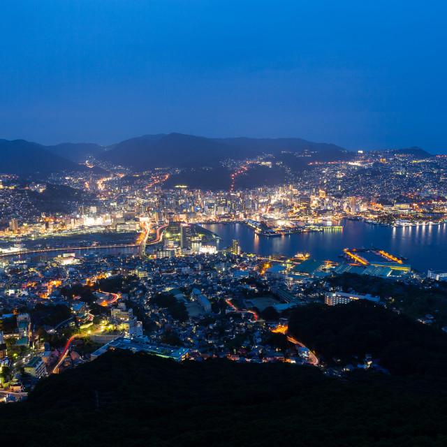 """Nagasaki city in Kyushu of Japan"" stock image"
