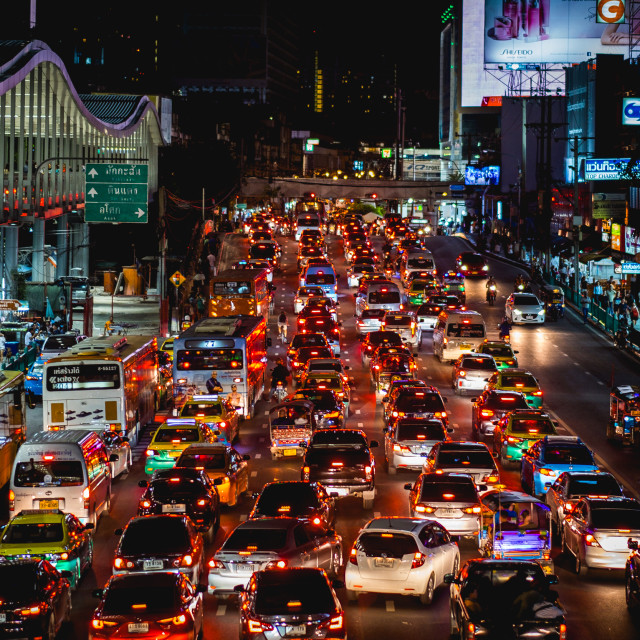 """Traffic in Bangkok"" stock image"