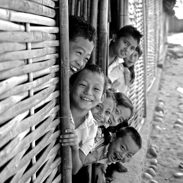 """""""- Beldangi II, Damak, Nepal, 2014: These refugees have been living in these..."""" stock image"""