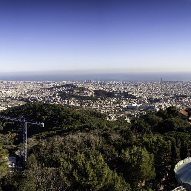 """Barcelona Panorama"" stock image"