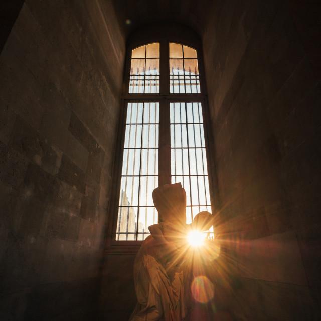 """Statue in the Louvre Museum, Paris"" stock image"