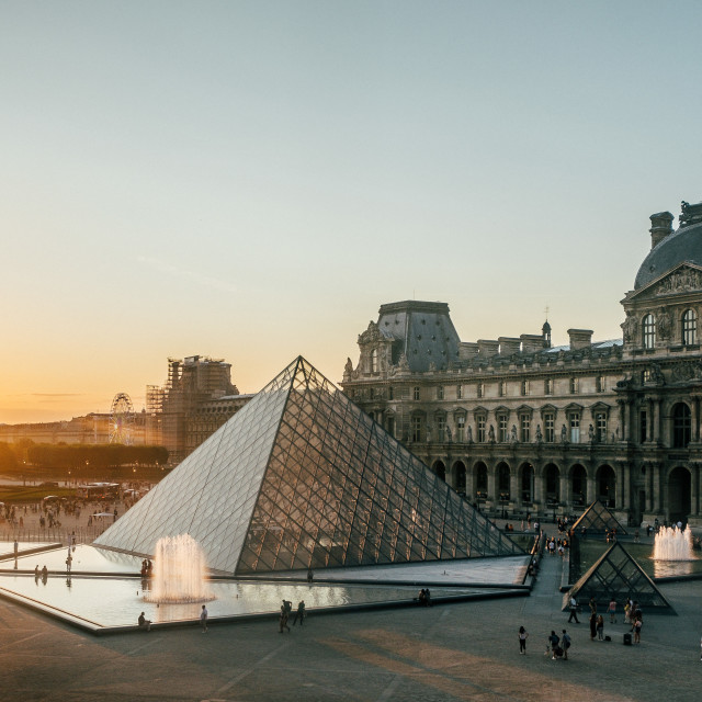 """Louvre Pyramid, Paris"" stock image"