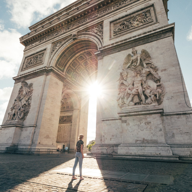 """Arc de Triomphe, Paris"" stock image"