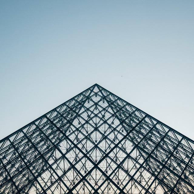 """""""Louvre Pyramid, Paris"""" stock image"""