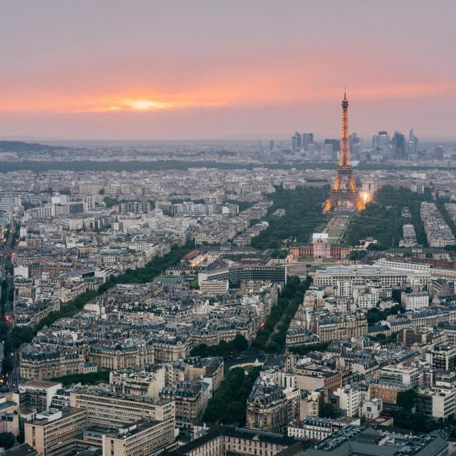 """Eiffel Tower Sunset, Paris"" stock image"