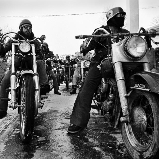 """Motorcycle Gang"" stock image"