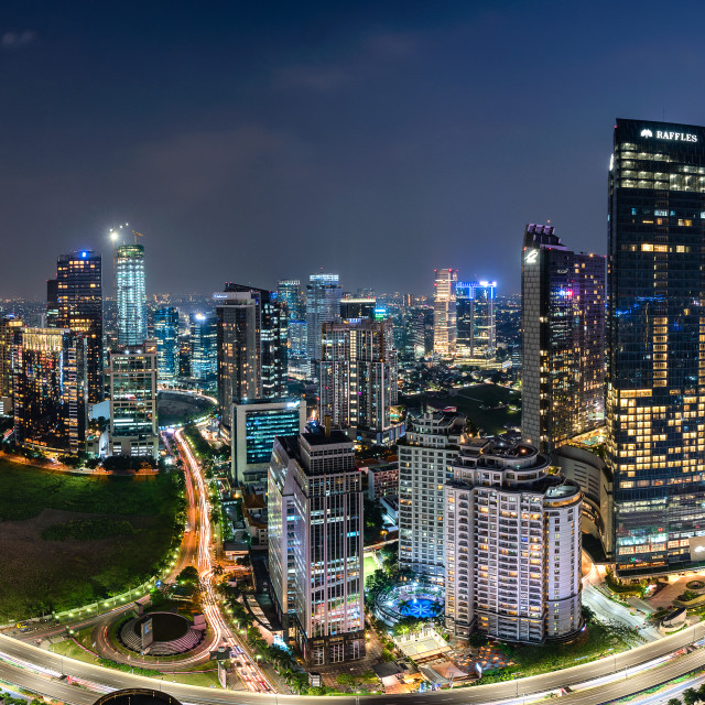 """Jakarta : Mega Kuningan horizon in the evening"" stock image"
