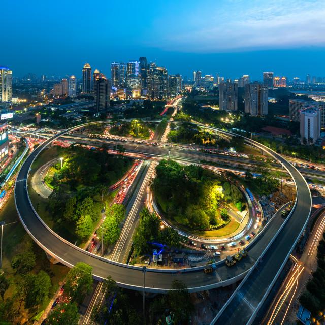 """Jakarta: Semanggi Roundabout"" stock image"