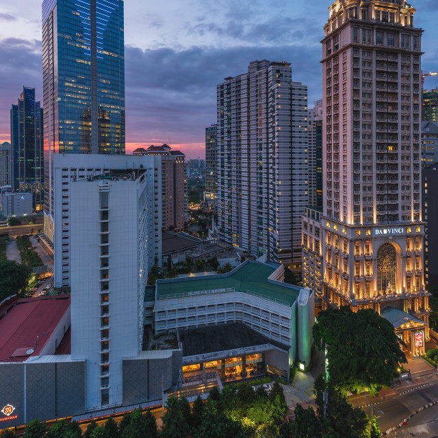 """""""Jakarta: Sudirman business district in the afternoon"""" stock image"""