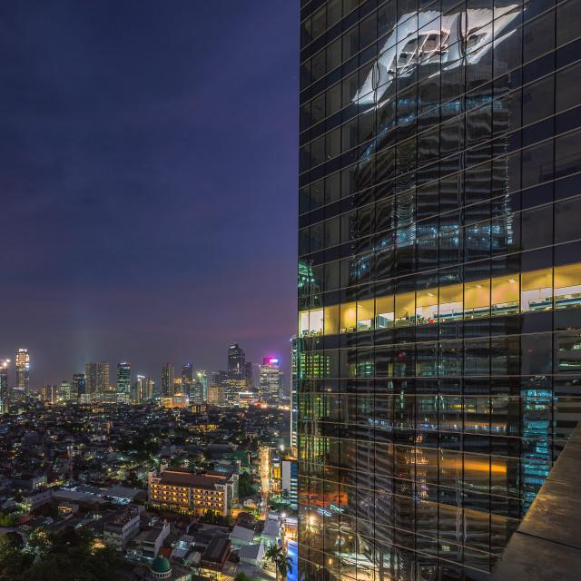 """Jakarta: Sudirman Building reflection"" stock image"
