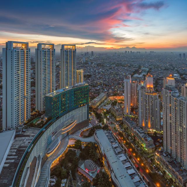 """Jakarta: Alaina Apartment / Central Park"" stock image"