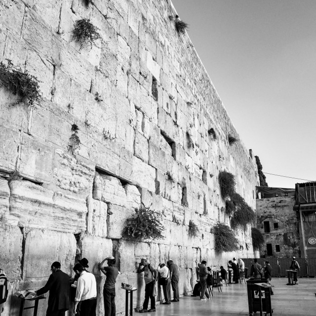 """Wailing Wall"" stock image"