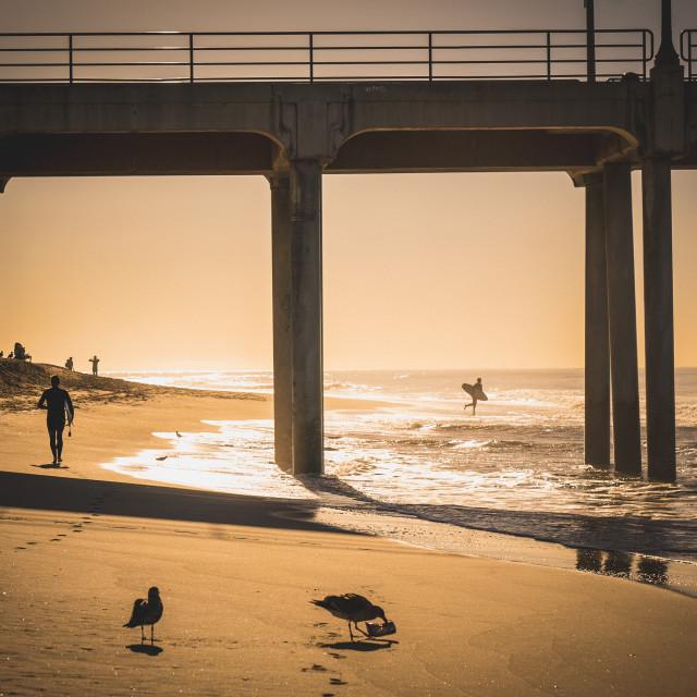 """""""Huntington Beach Pier"""" stock image"""