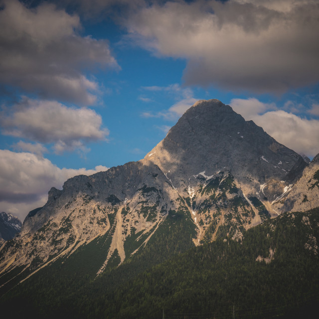 """""""Swiss Alps Cloudy"""" stock image"""