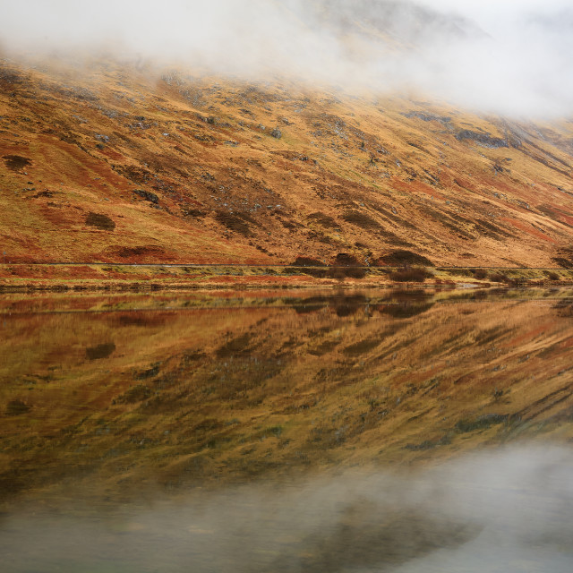 """Loch refection."" stock image"