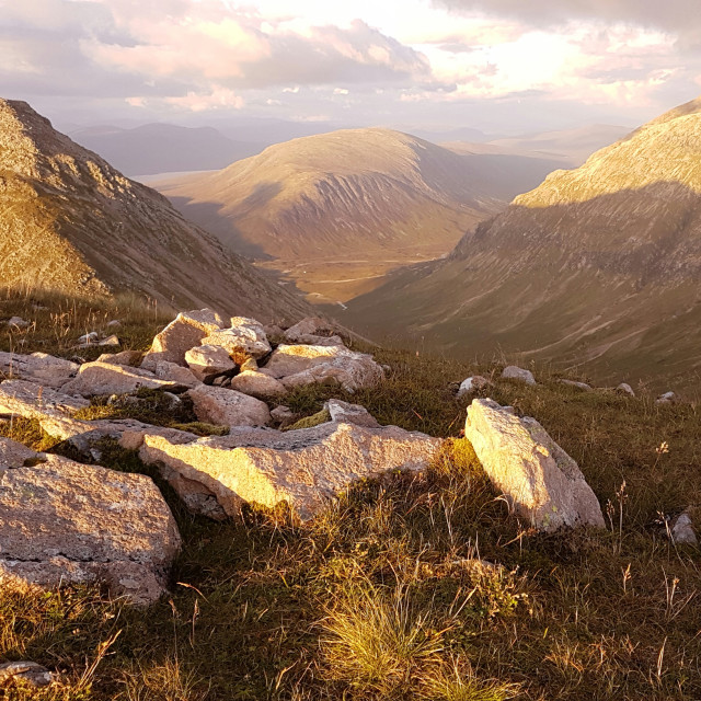 """High above Glencoe, Scotland."" stock image"