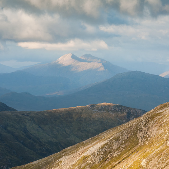 """""""Distant mountains."""" stock image"""