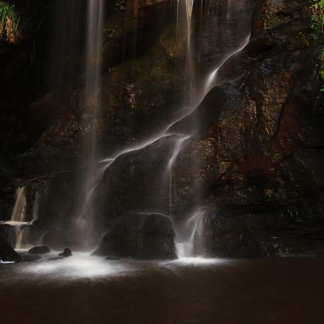 """""""Roughtlinn Linn waterfall."""" stock image"""