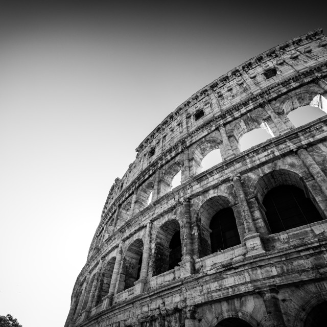 """Roman Coliseum B&W"" stock image"