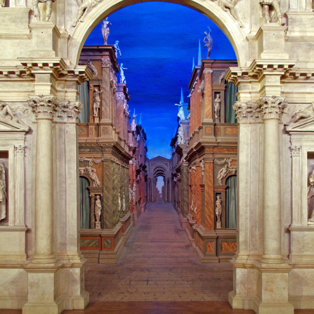"""Teatro Olimpico, Vicenza, Italy"" stock image"