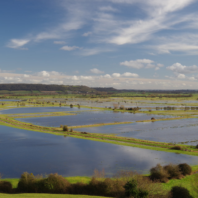 """The Somerset Levels"" stock image"