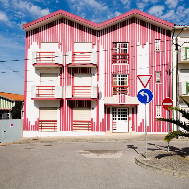 """Haystack Houses Aveiro"" stock image"