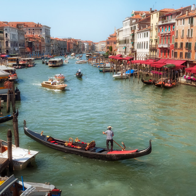 """Gondola on the Grand Canal"" stock image"