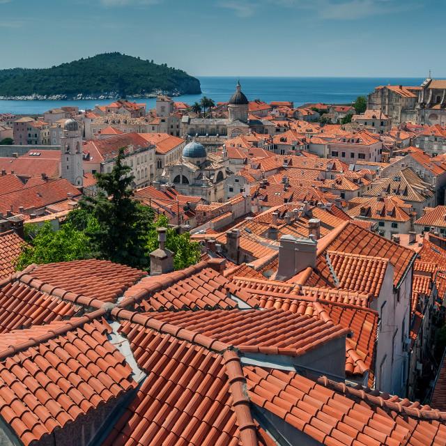 """Dubrovnik city in southern Croatia"" stock image"