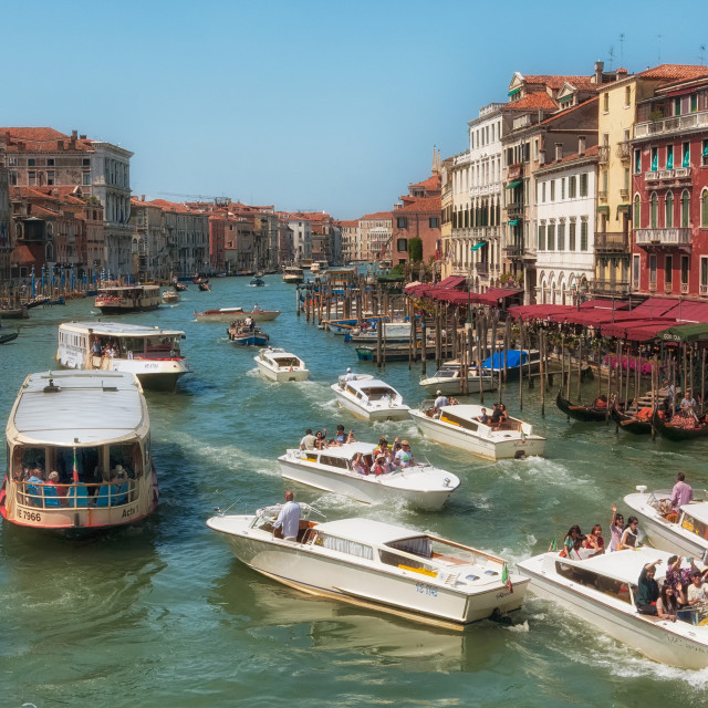 """Venetian Canal traffic"" stock image"