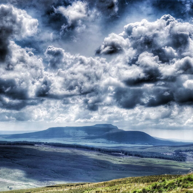 """Ingleborough, Yorkshire Dales"" stock image"