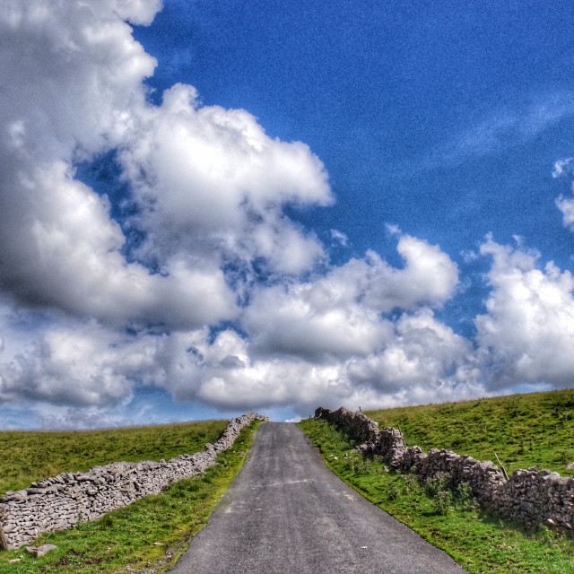 """The Open Road, The Yorkshire Dales"" stock image"