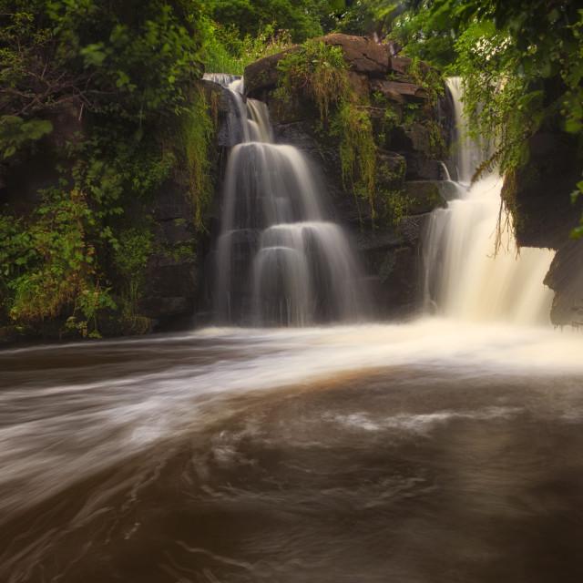 """""""Penllergare falls"""" stock image"""