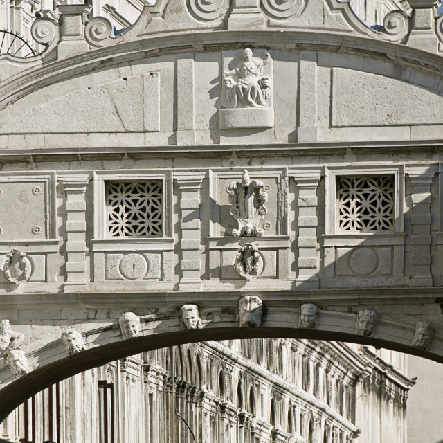 """venice, ponte dei sospiri (bridge of sighs)"" stock image"