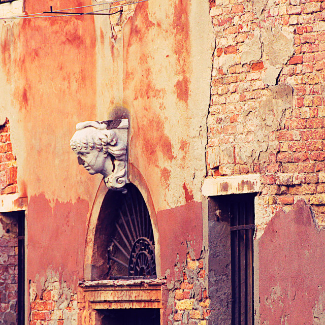 """Decaying Venice, architectural detail"" stock image"