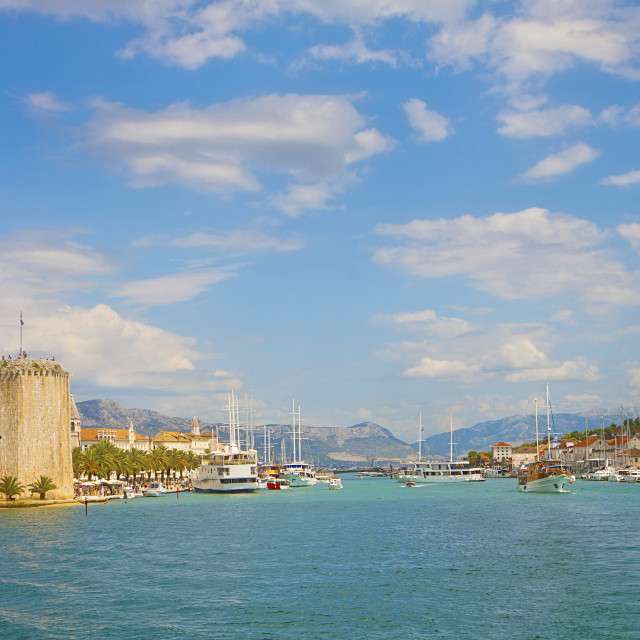 """Croatia Trogir harbor"" stock image"